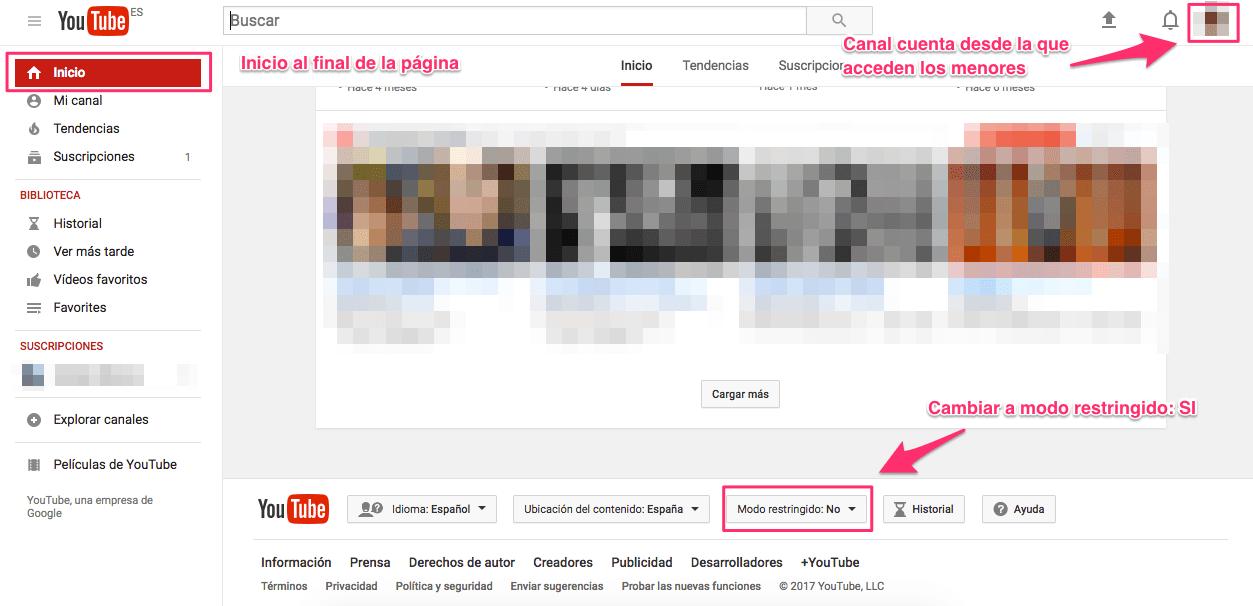 Configuración-Youtube-Control-Parental