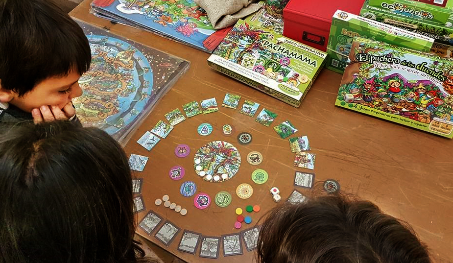 Juegos de mesa cooperativos en familia