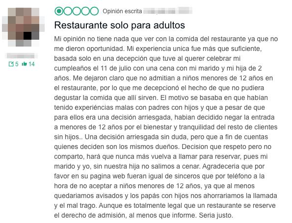 Restaurantes Antiniños